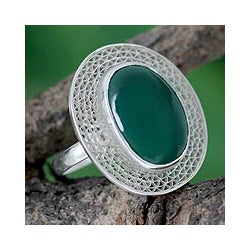 Sterling Silver Cocktail Ring 'Orissa Forest' (India)