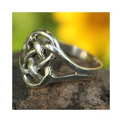 Sterling Silver 'Bound by Love' Cocktail Ring (Thailand)