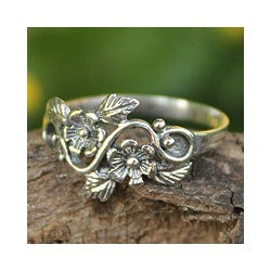 Sterling Silver 'Siam Rose' Cocktail Ring(Thailand)