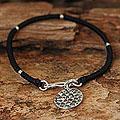 Silver Accent 'Distant Moon' Charm Bracelet (Thailand)