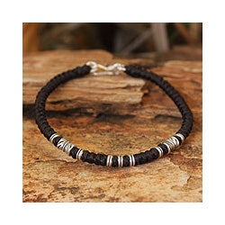 Silver Accent 'Hill Tribe Heritage' Wristband Bracelet (Thailand)