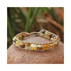 Jasper wristband Bracelet 'Honeysuckle Sun' (Thailand)