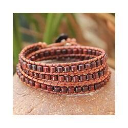 Jasper 'Crimson Fire' Wrap Bracelet (Thailand)