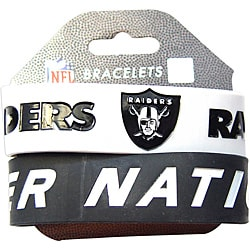 Aminco Oakland Raiders Rubber Wristbands (Set of 2)