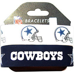 Aminco Dallas Cowboys Rubber Wristbands (Set of 2)