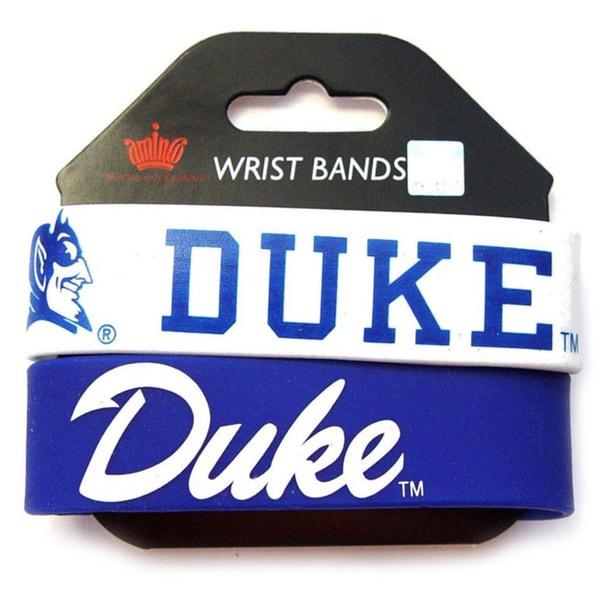 Aminco Duke Blue Devils Rubber Wristbands (Set of 2)