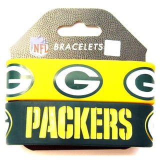 Aminco Green Bay Packers Rubber Wristbands (Set of 2)