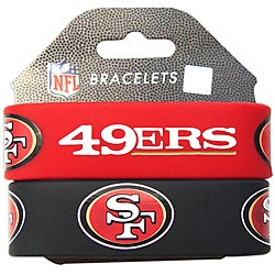 Aminco San Francisco 49ers Rubber Wristbands (Set of 2)