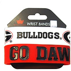 Aminco Georgia Bulldogs Rubber Wristbands (Set of 2)