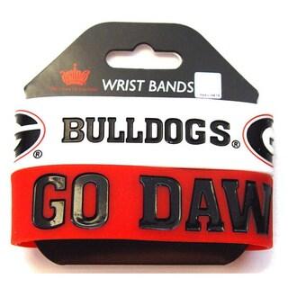 Aminco Georgia Bulldogs Rubber Wristbands (Set of 2)