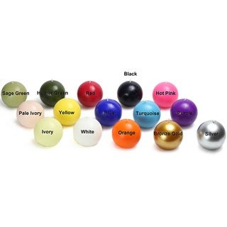 4 Inch Ball Candles (Case of 12)
