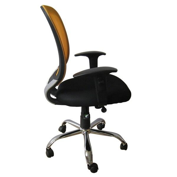 Foust Yellow Mesh Back Task Chair