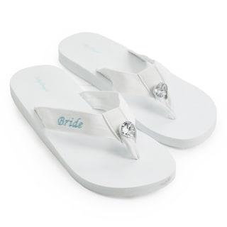 'Bride' White Wedding Flip-flops