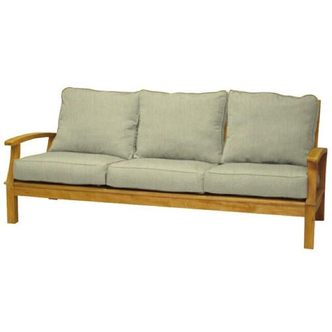 Carmel Natural Teak 3-seater Sofa