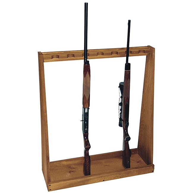 Evans Sports Inc Standing Brown Wooden Rifle Rack With