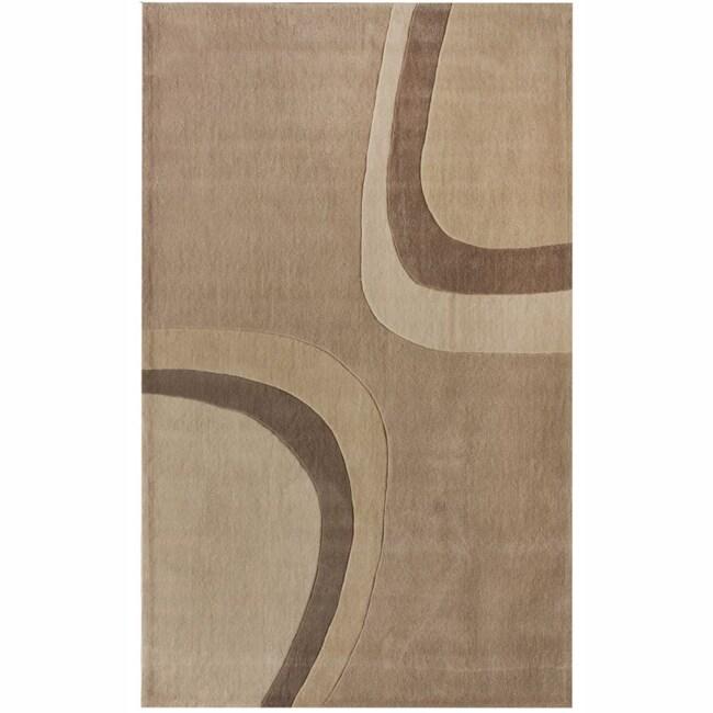 nuLOOM Handmade Pino Beige Modern Rug (8'3 x 11')