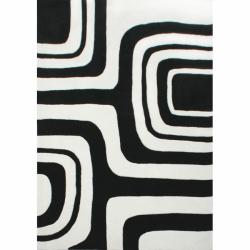 nuLOOM Handmade Pino Geometric Black Rug (8'3 x 11')
