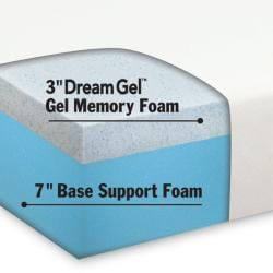Dream Form 10-inch Cal King-size Gel Memory Foam Mattress
