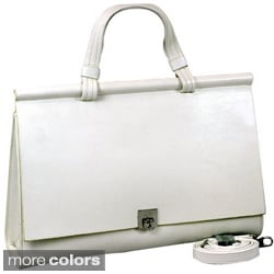 Dasein Classic Faux Leather Briefcase