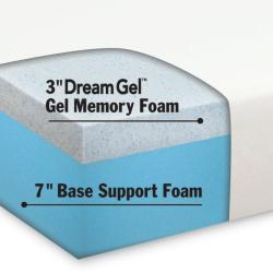 Dream Form Gel 10-inch Queen-size Gel Memory Foam Mattress