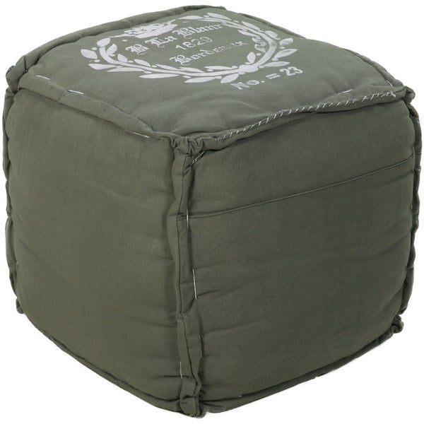 Decorative Bordeaux Hunter Green Pouf - 14163657 - Overstock.com Shopping - Great Deals on Throw ...