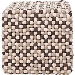 Decorative Cobblestone Brown Pouf