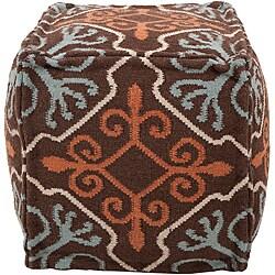 Decorative Antique Brown Pouf