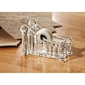 Fifth Avenue Crystal and Clear Glass Tape Dispenser Office Assessory