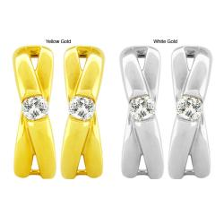 10k Gold 1/4ct TDW Diamond 'X' Design Earrings (G-H, SI1-SI2)