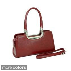 Dasein Classic Faux-Leather Double-Handled Shoulder Bag