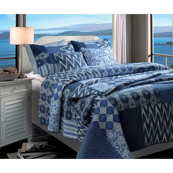 Greenland Home Fashions Santorini 3-piece Quilt Set