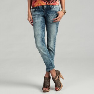 Blues Society Junior's Light Wash Cropped Jeans