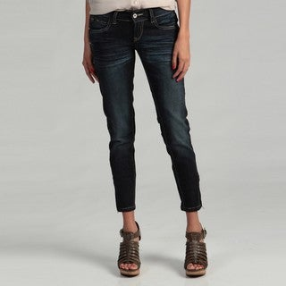 Blues Society Junior's Zip Crop Skinny Jeans