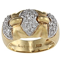 18k Yellow Gold 3/4ct TDW Diamond Estate Ring (G-H, SI1-SI2)