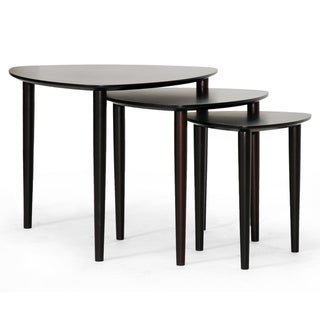 Griffith Dark Brown Mid-Century Modern Nesting Table Set