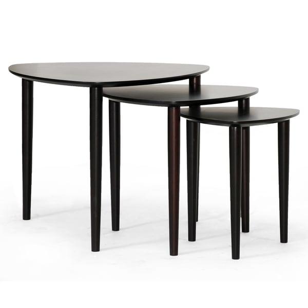 Griffith Dark Brown Mid-Century Modern Nesting Table Set