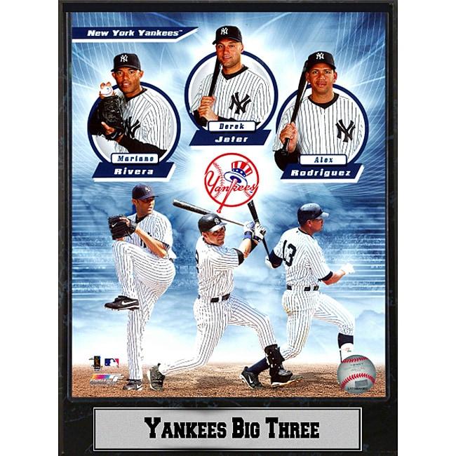 2011 New York Yankees 'Big Three' Plaque