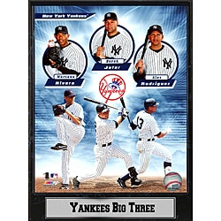 2011 New York Yankees 'Big Three' Plaque