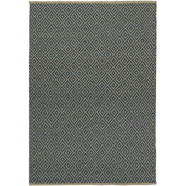 Blue Diamond Jute Rug (6' x 9')