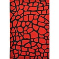 Red Rock Hand Tufted Wool Rug (5' x 8')