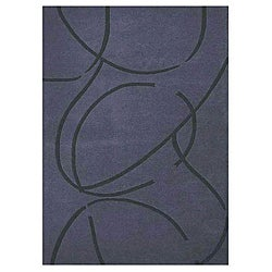 Archie Blue Hand Tufted Wool Rug (9'x13')