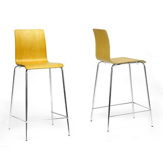 Dunlap Molded Plywood Stackable Modern Bar Stool (Set of 2)