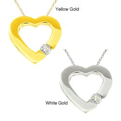 10k Gold Diamond Accent Heart Necklace