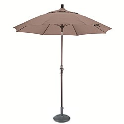 Champagne Fiberglass 9-foot Umbrella with Collar Tilt with 50-pound Stand
