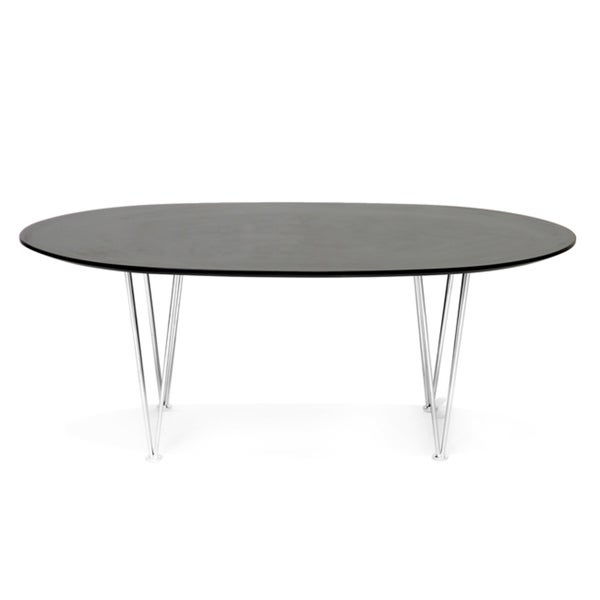 Hubbard Brown Oval Mid-Century Modern Coffee Table