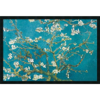 Vincent van Gogh 'Almond Branches in Bloom, San Remy, detail (ii)' Framed Art Print with Gel Coated Finish