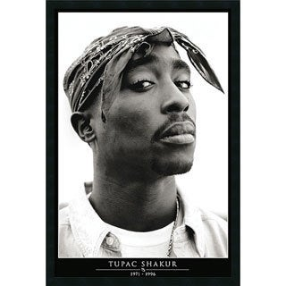 Tupac 'Amerikaz Most Wanted' Gel-Textured Art Print