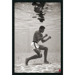 Ali - Underwater' Framed Art Print with Gel Coated Finish