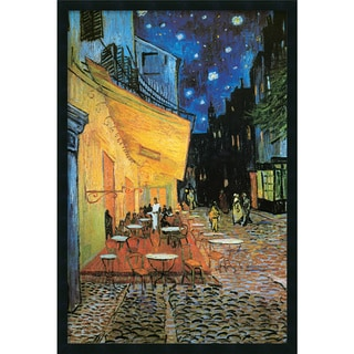 Vincent van Gogh 'Cafe Terrace At Night, 1888' Framed Art Print with Gel Coated Finish