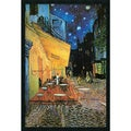 Vincent Van Gogh 'Cafe Terrace At Night (Detail)' Gel-Textured Art Print